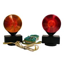 towing lights wiring towing accessories towing trailers 2 sided amber red magnetic towing light kit