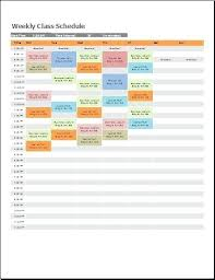 Class Schedule Template Online Course Timetable Template Callatishigh Info
