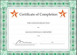 how to make a certificate of completion how to create your own certificate of completion traineaze