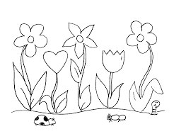 Flower Garden Coloring Pages Printable