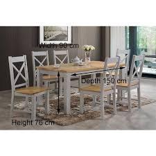 rochester dining table 5 ft ger gavin bedroom furniture