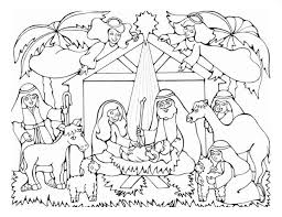 Small Picture Coloring Pages Of Nativity Scene Finest Child Jesus Nativity