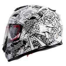 Full Face Motorcycle Helmet Street Tokyo Throttle Dual Visor