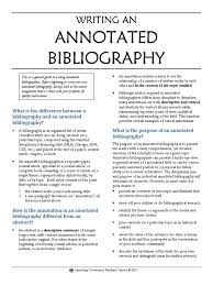 Writing An Annotated Bibliography Bibliography Citation