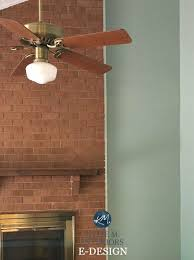 paint colour for red or orange toned brick fireplace quietude kylie m interiors e