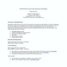 Retail Experience Resume Sample Sales Associate Resume Sample