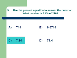 use the percent equation to answer the question