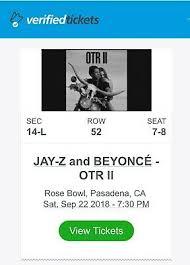 Beyonce And Jay Z On The Run Ii Otr Ii Rose Bowl Pasadena 2