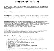 Resume Cover Letter Examples For Teachers