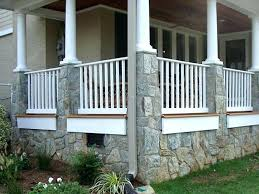 Front Porch Columns With Stone Ideas Delightful Outdoor Craftsman