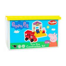 <b>Конструктор</b> BIG <b>Поезд с остановкой</b> Peppa Pig 15 деталей Италия