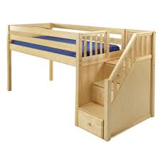 maxtrix great loft bed in natural w stairs (panel bed ends) ()