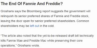 Fnma Stock Quote Inspiration Fannie And Freddie Legislation Sounds Intractable Fannie Mae