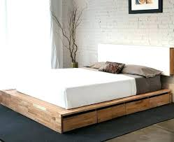 queen size bed frame with storage diy
