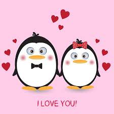 cute penguins in love. Fine Love Lovely Couple Cute Penguins Love Greeting Card Picture For Tshirt  Graphics With Cute Penguins In G