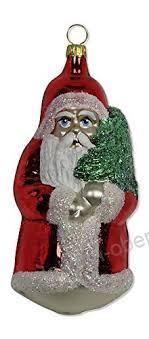 Lauschaer Glas Großer Weihnachtsmann Rot Christbaumschmuck