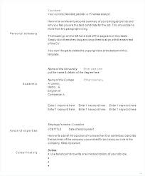 Resume Templates For Word 2003 – Lespa