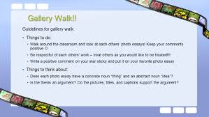 photo essay gallery walk guidelines for gallery walk things to 2 guidelines