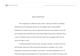 impovrished people a level english marked by teachers com document image preview
