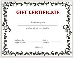 Printable Gift Certificate Templates Printable Gift Certificate Template Gift Certificate Templates