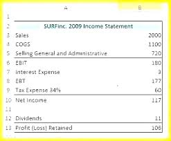 Simple Income Statement Free Income Statement And Balance Sheet Template Simple