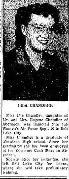 Lila Chandler, Inducted in Womens Air Force - Newspapers.com