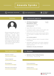 Resume Template 2017 Beauteous Business Resume Template Is Designed To Help You To Stand Out