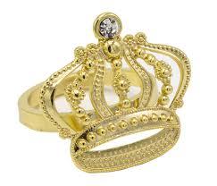 Jeweled <b>Crown Napkin Rings</b> - Set of 4 (Crown-Gold) - Walmart.com