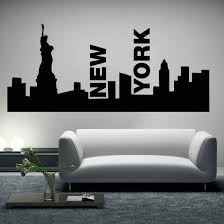 new york skyline wall simple wall art new york on new york skyline wall art stickers with new york skyline wall simple wall art new york wall decoration ideas