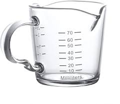 <b>70ml</b> Mini <b>Glass</b> Measuring <b>Cup</b> Jugs Borosilicate Graduated <b>Glass</b> ...
