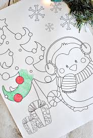 Small Picture Free Printable Christmas Coloring Pages Crazy Little Projects