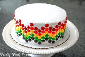 Easy Birthday Cake Decorating View In Gallery Skittle Cake Easy 1st