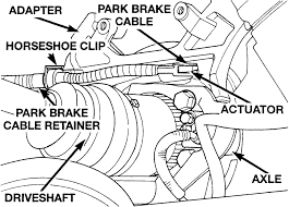 repair guides parking brake cables autozone com fig