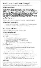 Audio Visual Technician Resume Sample Automotive Technician Resumes
