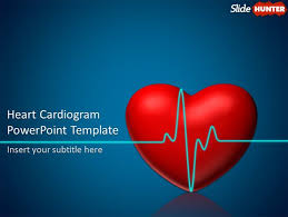 Heart Powerpoint Templates Free Animated Powerpoint Template With Heart Cardiogram