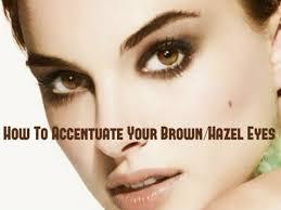 hair make up best ways to accentuate brown hazel eyes
