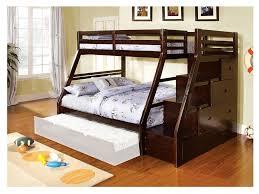 Image Loft Bed Ellington Twinfull Bunk Bed Muuduu Furniture Ellington Twinfull Bunk Bed In Dark Walnut Shop For Affordable