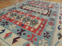 6x9 blue area rugs lovely colorful persian kilim reversible wool area rug 6x9