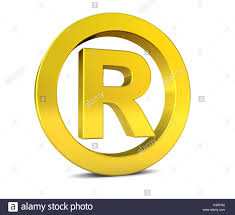 Registered Symbol Business Registered Trademark Golden Sign And Symbol 3d