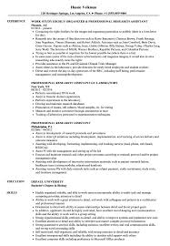 Research Assistant Resume Sample Professional Research Assistant Resume Samples Velvet Jobs 4
