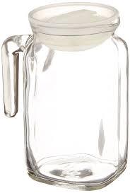 bormioli rocco frigoverre glass jug with hermetic lid spout 68 oz 11381015538