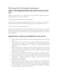 How To Write A Personal Statement For A Resume Personal Statement On
