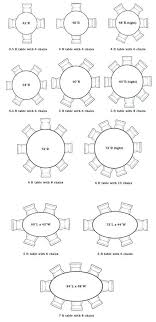 dining table circular table sizes round room dimensions 6 with regard to for dimensions