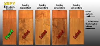 Wood Stain Comparison Chart Defy Extreme Stain Wood And Decks