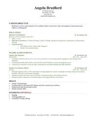 Professional Achievement Examples Resume Achievement Examples By Industry College Graduate Sample