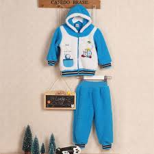 Little Q Coral velvet winter baby jacket boys suits kid overcoat clothing  set baby girls clothes