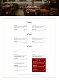Restaurant Menus Layout Responsive Restaurant Menu Free Divi Layout Divi Soup