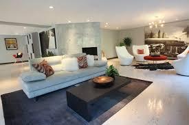 image of cork flooring in basement living room