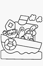 Kleurplaat Sinterklaas Stoomboot Collectie Zwarte Klaas Is Zwarte