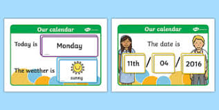 Date Chart For Classroom Weather Classroom Signs And Labels Primary Resources And Seaso